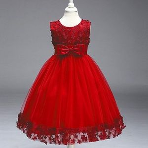 Girl Ball Gown Short Lace Flower, Tulle dress